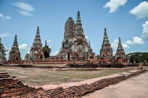 Il parco storico di Ayutthaya, l'antica capitale della Thailandia