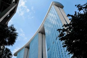 Il bellissimo Hotel Marina Bay Sands Luxury Resort a Singapore