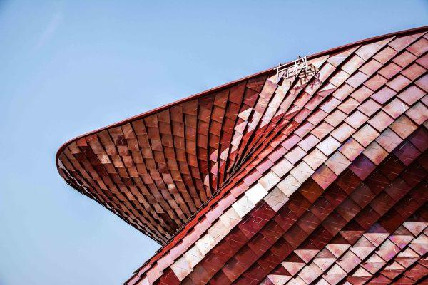 Dettaglio del padiglione Vanke all'Expo del 2015 a Milano