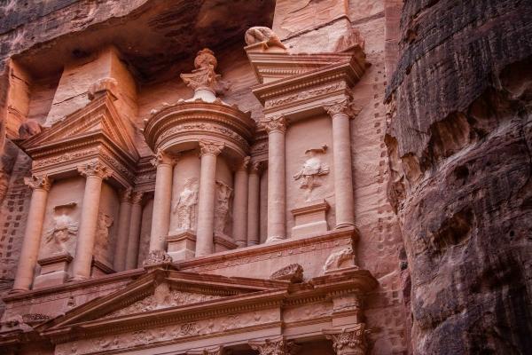 Il Khazneh di Petra in Giordania