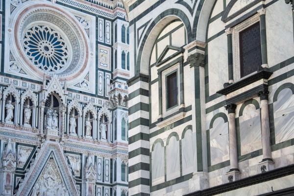 Vista sulla cattedrale di Santa Maria del Fiore e Battistero di Firenze